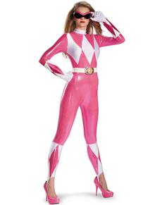 Sexy Deluxe Roze Power Ranger kostuum