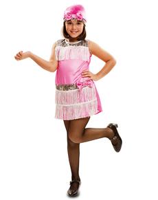 Charleston roze kostuum voor meisjes