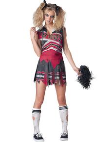 Kostuum duistere cheerleader voor vrouwen